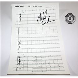 LOST Sheet Music Signed by Michael Giacchino