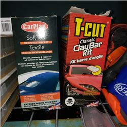 CAR PLAN SOFT-TOP RENOVATION KIT AND CLASSIC CLAY BAR KIT