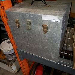 SILVER TOOL BOX W/ CONTACTS