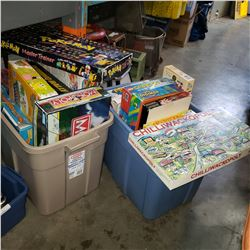 2 BOXES OF BOARD GAMES