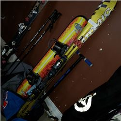 ATOMIC SLIA 160CM SKIS, SKI AND SNOWBOARD BAGS, FLIGHT POGO STICK AND SNOWBOARD