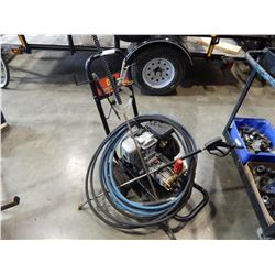 BE PRESSURE WASHER W/5 HP HONDA MOTOR 2 WANDS, HOSES
