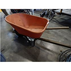 ORANGE PLASTIC WHEEL BARROW