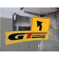 REFLECTIVE SIGN, GT RADIAL ADVERT, AND STEEL SHEET