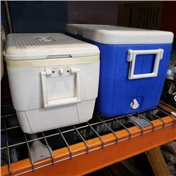 2 COOLERS - COLEMAN AND IGLOO