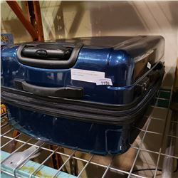 BLUE SAMSONITE ROLLING HARD CASE LUGGAGE