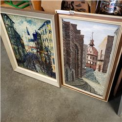 2 VINTAGE OIL PAINTINGS ON CANVAS