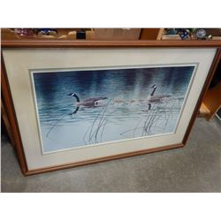 SIGNED LEP BY DON LILEGER 1984 WITH COA IN FRAME LOONS