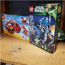 2 OPEN BOX LEGO SETS - STAR WARS, CREATOR SET