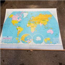 5FT WIDE VINTAGE SCHOOL MAP