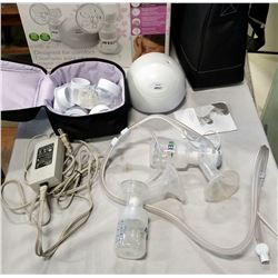 PHILIPS ADVENT TWIN BREAST PUMP IN BOX AS IS NO SUCTION