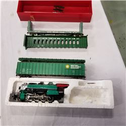 BACHMAN LOCOMOTIVE AND BCR TRAIN CARS
