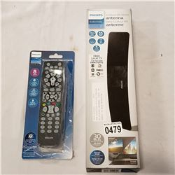 NEW OVERSTOCK PHILIPS CONTOUR HD DIGITAL ANTENNA, 1080P, 4K READY, 30 MILE RECEPTION RATING, WITH PH