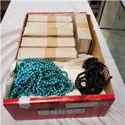 BOX OF CZECHOSLOVAKIAN GLASS NECKLACES