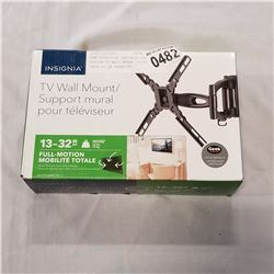 NEW OVERSTOCK INSIGNIA FULL MOTION TV WALL MOUNT 13-32 INCH 33 LB CAPACITY