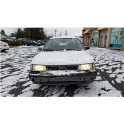 1990 toyota corolla se 4 door sedan 5spd manual 162688km with 2 keys car fax and registration 1990 toyota corolla se 4 door sedan