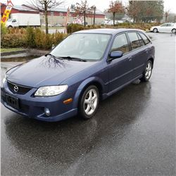 2002 MAZDA PROTEGE PR5, HB, 5SPD MANUAL, 245,851KMS CARFAX AND REGISTRATION, 1 KEY AND FOB