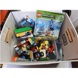BOX OF LEGO AND MANUALS