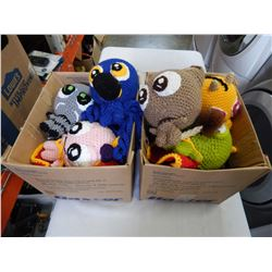 CHIBAL FRIENDS HAND CROCHET BY MY BLACK TREASURE STUFFED ANIMALS