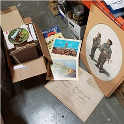 BRADFORD EXCHANGE COLLECTOR PLATES, HUDSON BAY PRINTS, AND WOMENS OWN 1950s MAGAZINES
