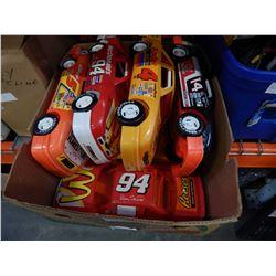 7 PLASTIC NASCAR TOYS