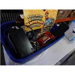 TOTE OF PS2 AND OTHER VIDEO GAME COLLECTIBLES
