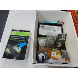 HP LAPTOP BATTERY, DURACELL CHARGERS, FLASK AND MORE