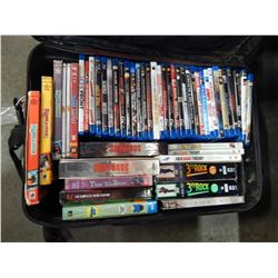 LUGGAGE BAG OF BLUE RAYS AND DVDS