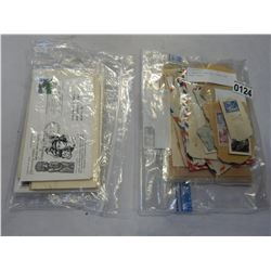 2 BAGS OF VARIOUS STAMPS AND POST CARDS