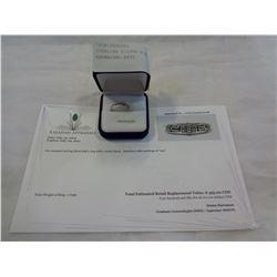 STERLING SILVER RING W/ APPRAISAL $455