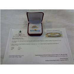 10KT YELLOW GOLD .10CT DIAMOND RING W/ APPRAISAL $1780