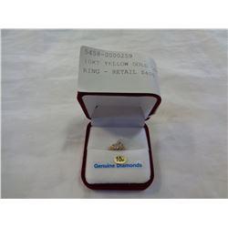 10KT YELLOW GOLD DIAMOND BABY RING - RETAIL $400