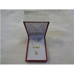 10KT YELLOW GOLD CZ NECKLACE - RETAIL $750