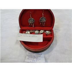 SILVER EARRING AND BRACELET .925