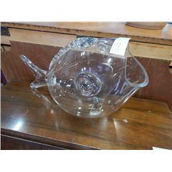 LARGE DECORATIVE GLASS GOLDFISH BOWL