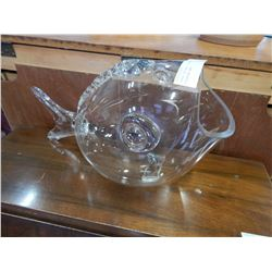 LARGE DECORATIVE GLASS GOLDFISH BOWL