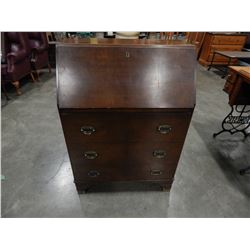 ANTIQUE WOODEN DROP DOWN DESK