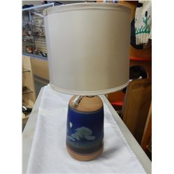 SALT GLAZED POTTERY LAMP