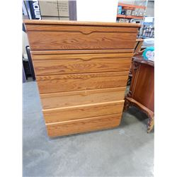 6 DRAWER OAK CHEST OF DRAWERS