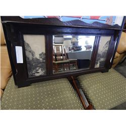 VINTAGE BEVELED WALL MIRROR SHELF