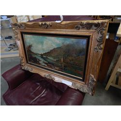 ALBERT HARRIS ANTIQUE PAINTING ON CANVAS