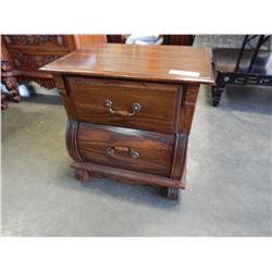 DA VELUYVILLE 2 DRAWER ROYAL OAK NIGHT STAND