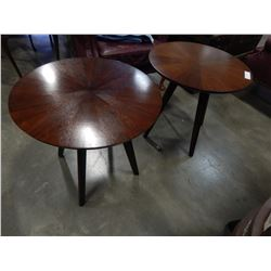 PAIR OF ROUND CASANA END TABLES