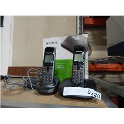 PANASONIC 2 HANDSET PHONE SYSTEM AND BLUE-RAY DISC PLAYER