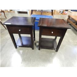 PAIR OF 1 DRAWER MODERN NIGHT STANDS