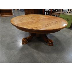 ROUND OAK PAW FOOT COFFEE TABLE