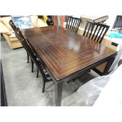 DINING ROOM TABLE W/ 1 LEAF AND 4 CHAIRS