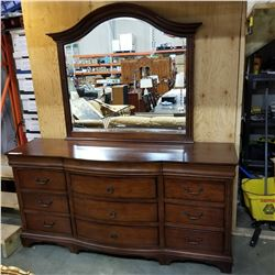 WINNERS ONLY 12 DRAWER MAHOGANY DRESSER W/ MIRROR