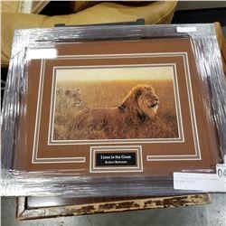 """""""LIONS IN THE GRASS"""" BY ROBERT BATEMAN #25112"""