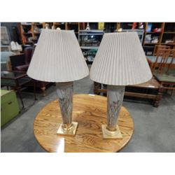 PAIR OF EASTERN STYLE BUTTERFLY TABLE LAMPS
